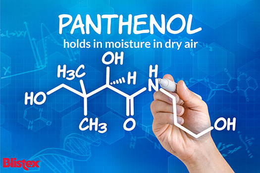 Panthenol holds moisture in dry air